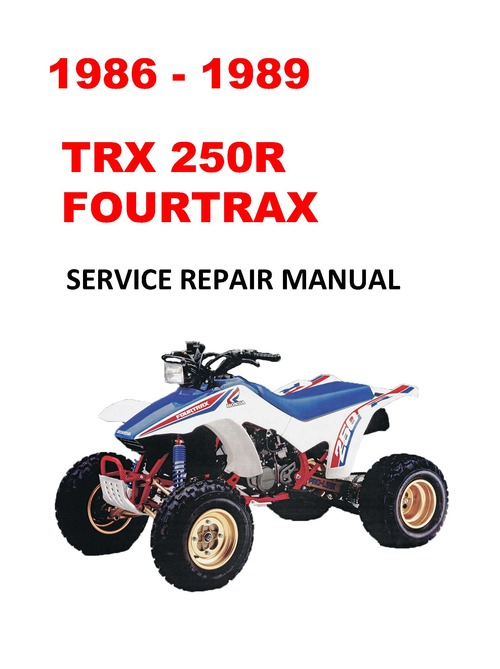 1986 1989 Trx250r Fourtrax Service Repair Manual Ecmanuals